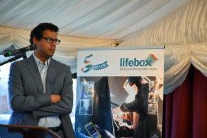Atul Gawande and Lifebox banner_copyright Lifebox Foundation