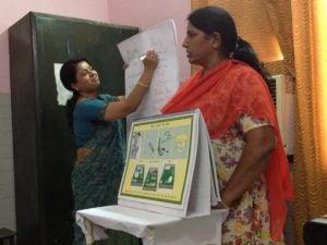 BetterBirth Coaches train fellow birth attendants on proper use of the Safe Childbirth Checklist.
