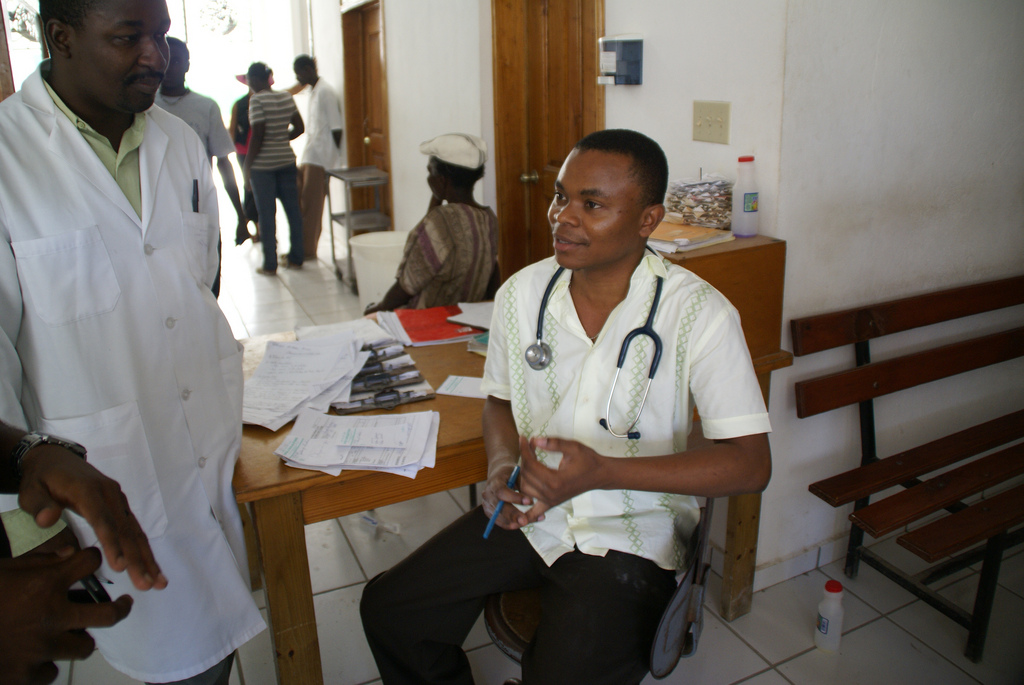 Photo by Direct Relief of a Partners In Health facility in Saint-Marc, Haiti, March 16, 2009