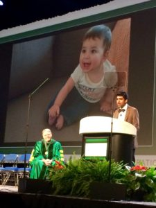 Dr. Shah shared an image of his son, Luca, during his keynote address at the American College of Obstetricians and Gynecologoists.
