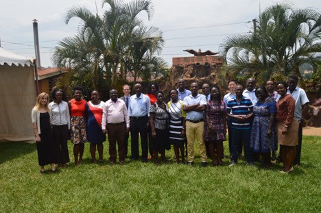 Members of the primary health care team in Uganda
