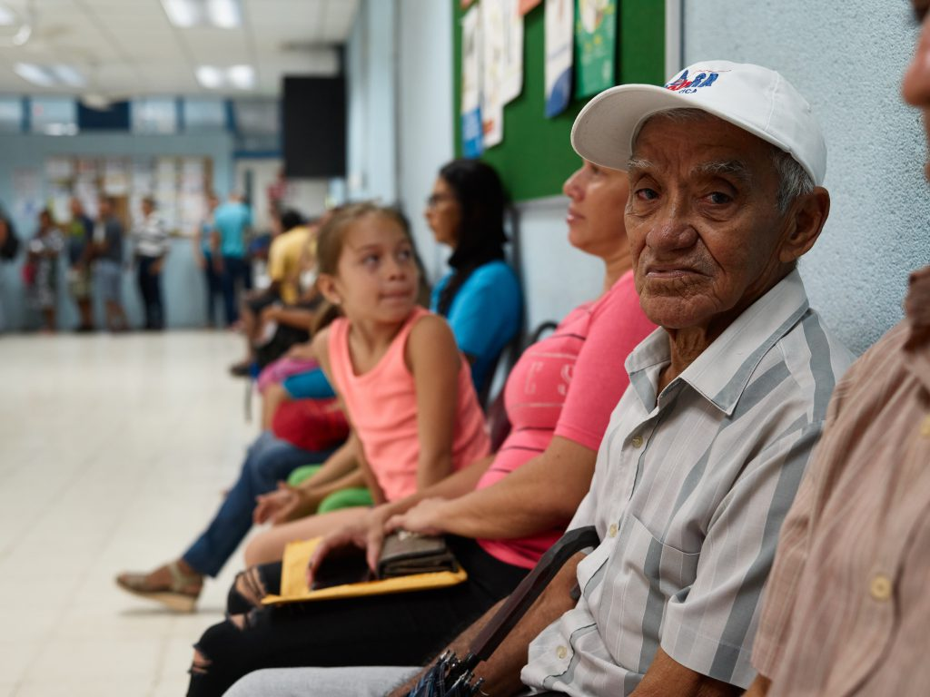 People of all ages waiting for primary health care