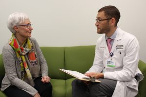 Dr. Joshua Lakin uses the serious illness conversation guide to discuss a patient's goals and values