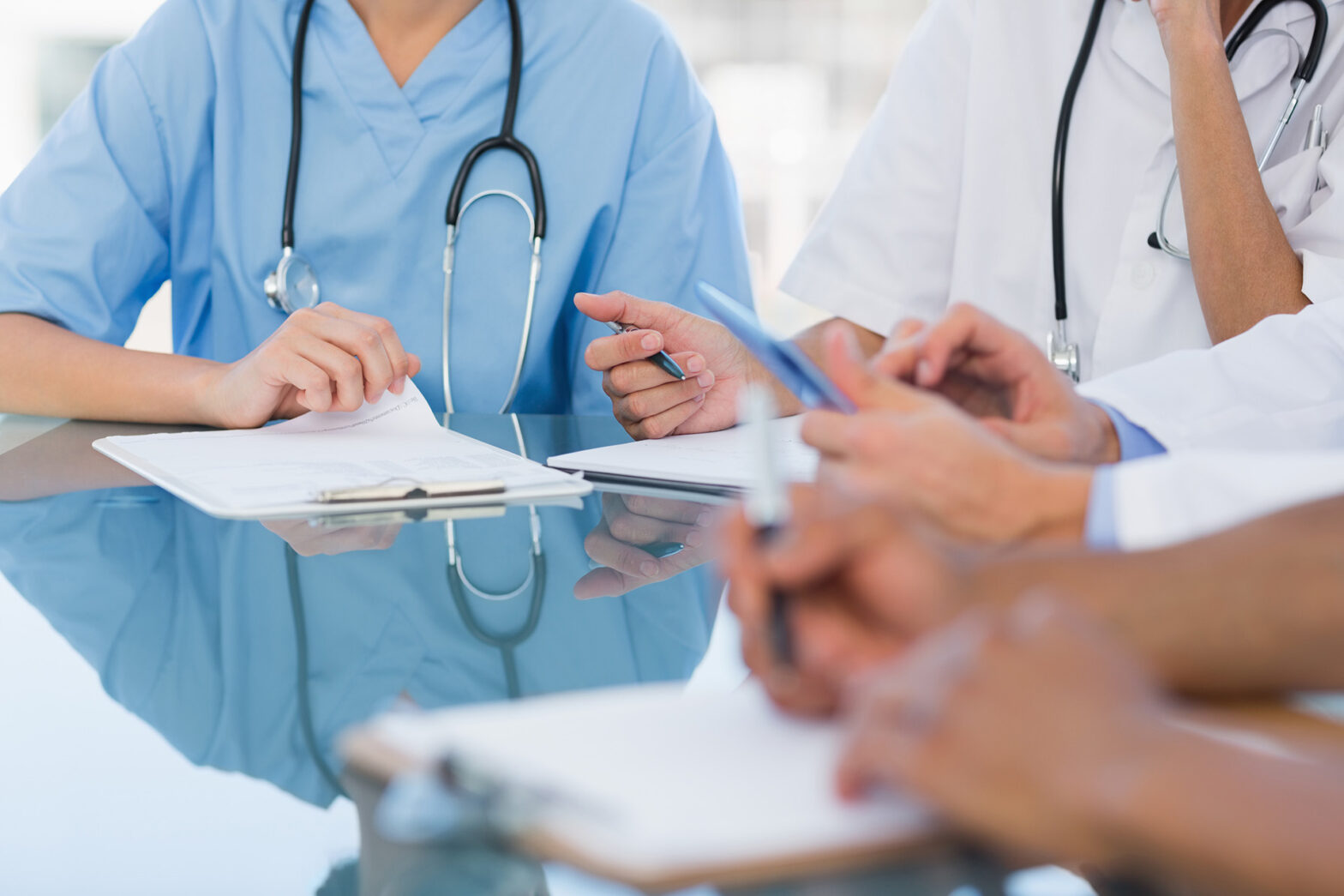 Doctors in a meeting at a hospital